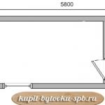 Бытовка дачная с туалетом 5,8х2,3 схема
