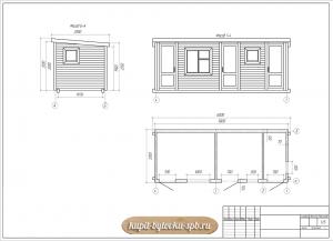 План схема бытовки с туалетом душем и хозблоком