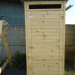 Туалет деревянный 4
