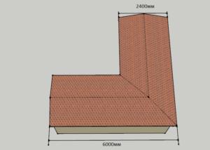 Схема угловой бытовки