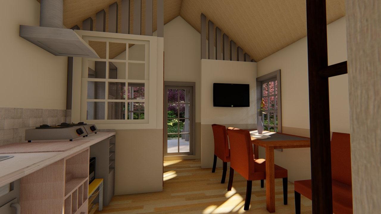 Вид внутри tiny house
